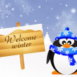 Welcome winter — Stock Photo