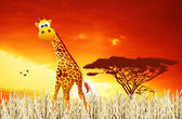 Giraffe cartoon — Stock Photo