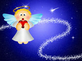 Angel with heart — Stock Photo