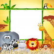 Wild animals cartoon — Stock Photo