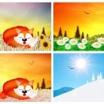 Four seasons — Stock Photo #33367325