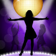Woman dancing in disco — Stock Photo