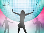 Woman dancing in disco — Stock Photo