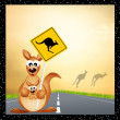 Kangaroo sign caution — Stock Photo #34125269