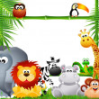 Stock Photo: Zoo animal cartoon