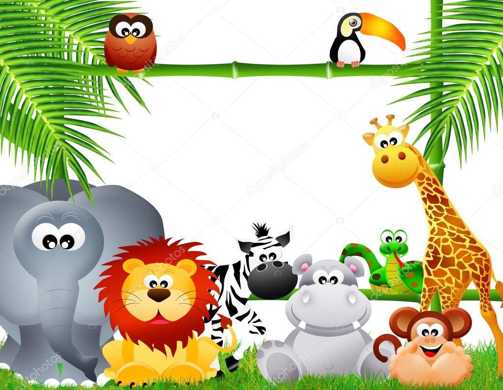 Dibujos animados de animales de zool gico foto de stock - Fotos infantiles de animales ...