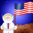 Astronaut cartoon — Stock Photo