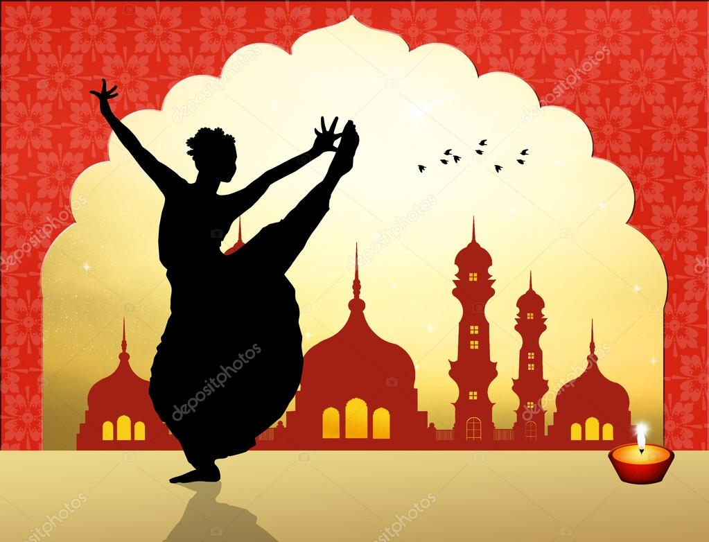 Indian Dance Silhouette Illustration Of Pictures