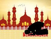 Muslimischen Mann betet — Stockfoto
