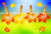 Autumn sales — Stock Photo
