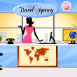 Travel agency — Stock Photo