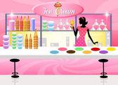 Tienda de helados — Foto de Stock