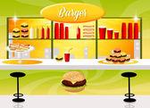 Burger shop — Stock Photo