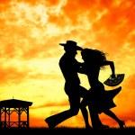 Couple dancing flamenco — Stock Photo #35002447