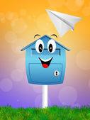 Mailbox cartoon — Stock Photo
