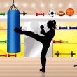 Foto Stock: Kick boxing