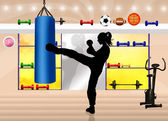 Kick boxing — Stock Photo