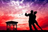 Pareja bailando tango — Foto de Stock