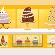 Cake shop — Stock Photo