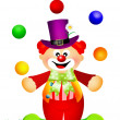 Clown cartoon — Stock Photo