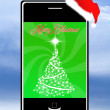 Iphone at Christmas — Stock Photo