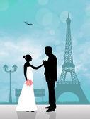 Wedding in Paris — Stock Photo