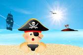Dziecko pirat — Zdjęcie stockowe