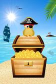 Piratem ptak — Zdjęcie stockowe