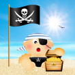 Baby pirate — Stock Photo