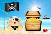 Baby pirate — Stock Photo