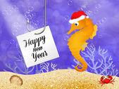 Novoroční pohlednice — Stock fotografie
