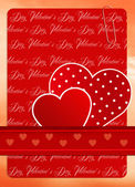 Valentine's Day postcard — Foto Stock
