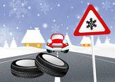 Snow tires — Stock Photo