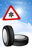Snow tires — Stockfoto