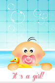 Baby in the bath — Stock Photo