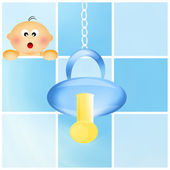 Pacifier for baby — 图库照片