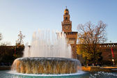 Sforzesco Castle, Milan — Stock Photo