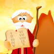Stock Photo: Moses with Ten Commandments