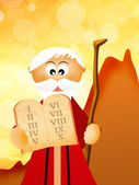 Moses with the Ten Commandments — Stock Photo