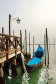 Gondolas in the fog — Foto Stock