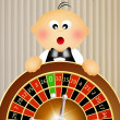 Baby croupier — Stock Photo