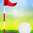 Illustration of golf — Foto de stock #37442441