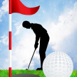 Illustration of golf — Foto de stock #37442471