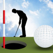 Illustration of golf — Foto de stock #37442733