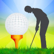 Illustration of golf — Stockfoto #37442771