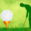 Stock Photo: Illustration of golf