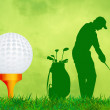 Illustration of golf — Stock fotografie #37442957