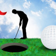 Illustration of golf — Stock fotografie #37442977