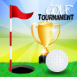 Foto de Stock  : Golf tournament