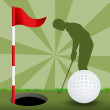 Stockfoto: Illustration of golf